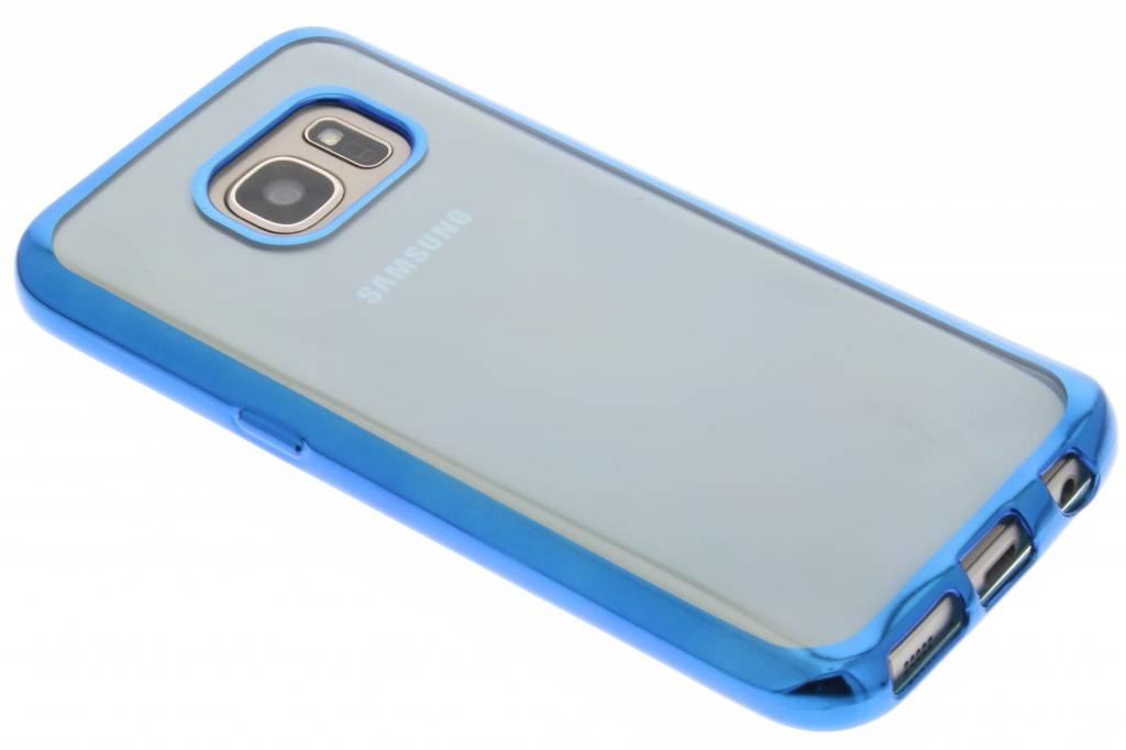 Blauw TPU hoesje met metallic rand voor de Samsung Galaxy S7