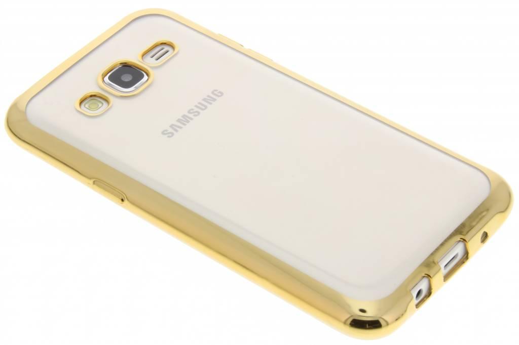 Goud TPU hoesje met metallic rand voor de SamsungGalaxyJ5