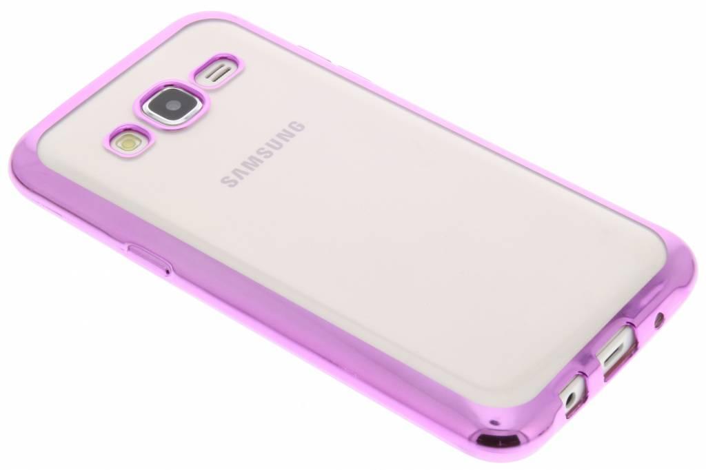 Roze TPU hoesje met metallic rand voor de SamsungGalaxyJ5