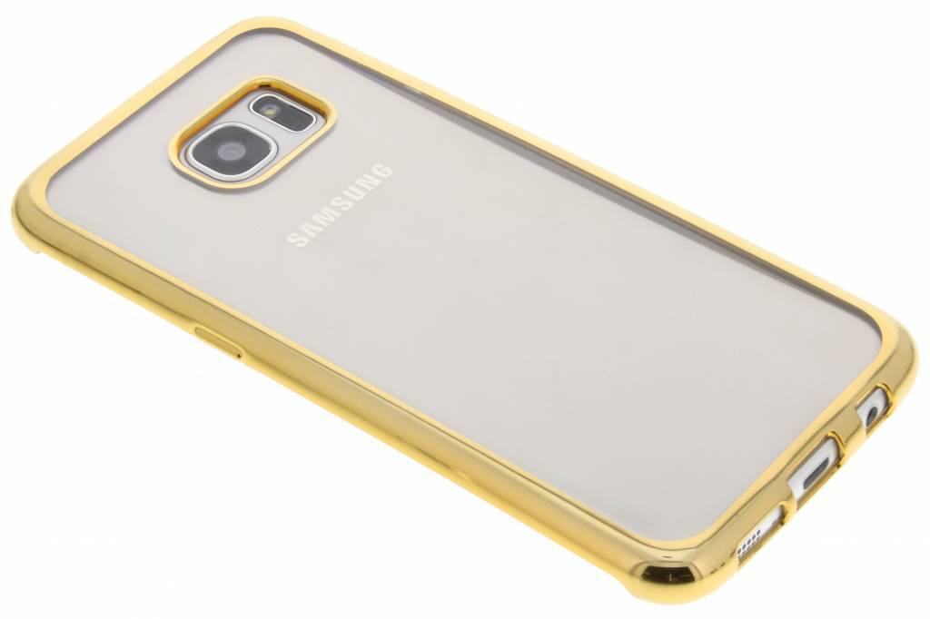 Goud TPU hoesje met metallic rand voor de Samsung Galaxy S7 Edge
