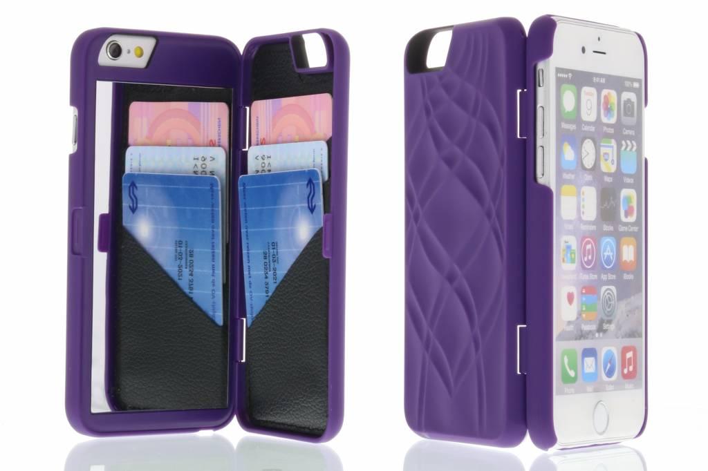 Paarse beauty case voor de iPhone 6(s) Plus