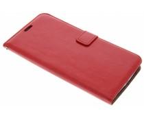 Rood kunstlederen wallet Motorola Nexus 6