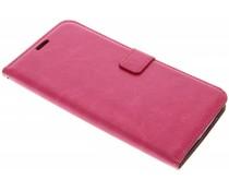 Fuchsia kunstlederen wallet Motorola Nexus 6