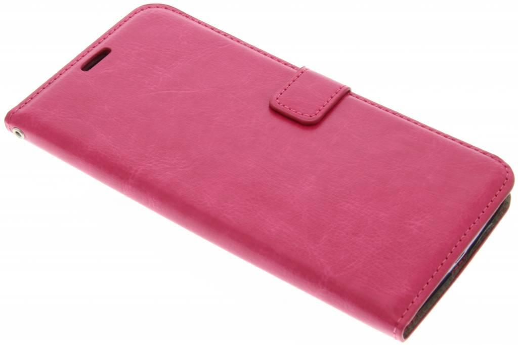 Fuchsia kunstlederen wallet voor de Motorola Nexus 6