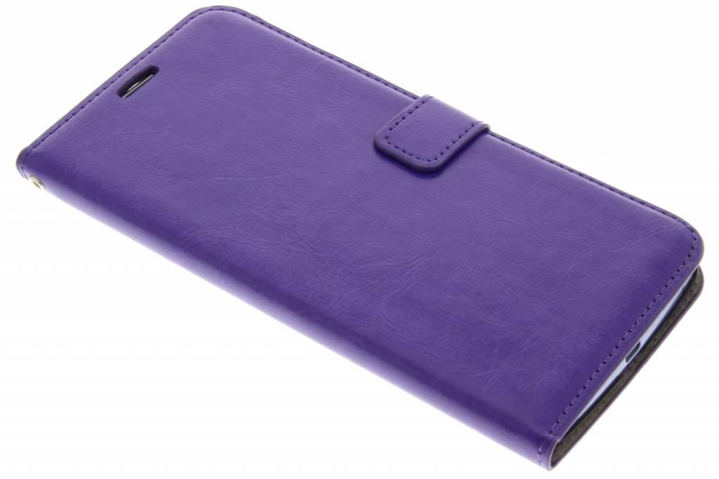 Paarse kunstlederen wallet voor de Motorola Nexus 6