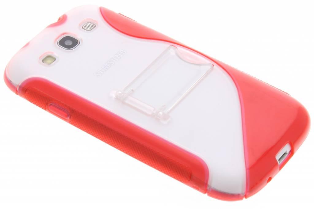 Rood S-line hoesje met standaard voor de Samsung Galaxy S3 / Neo