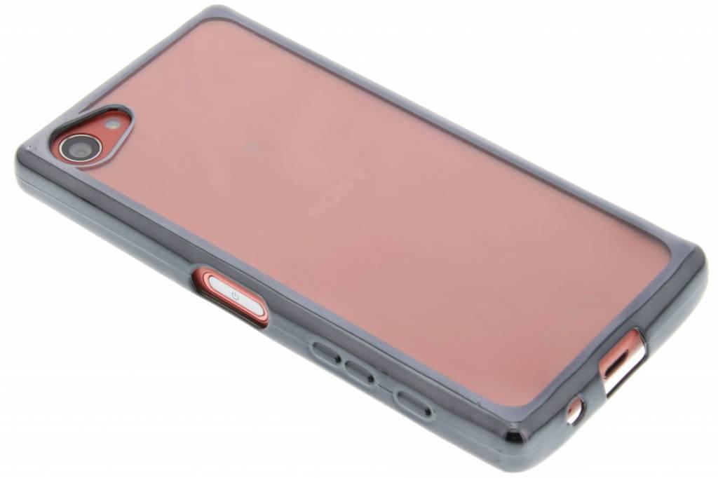 Donkergrijs TPU hoesje met metallic rand voor de Sony Xperia Z5 Compact