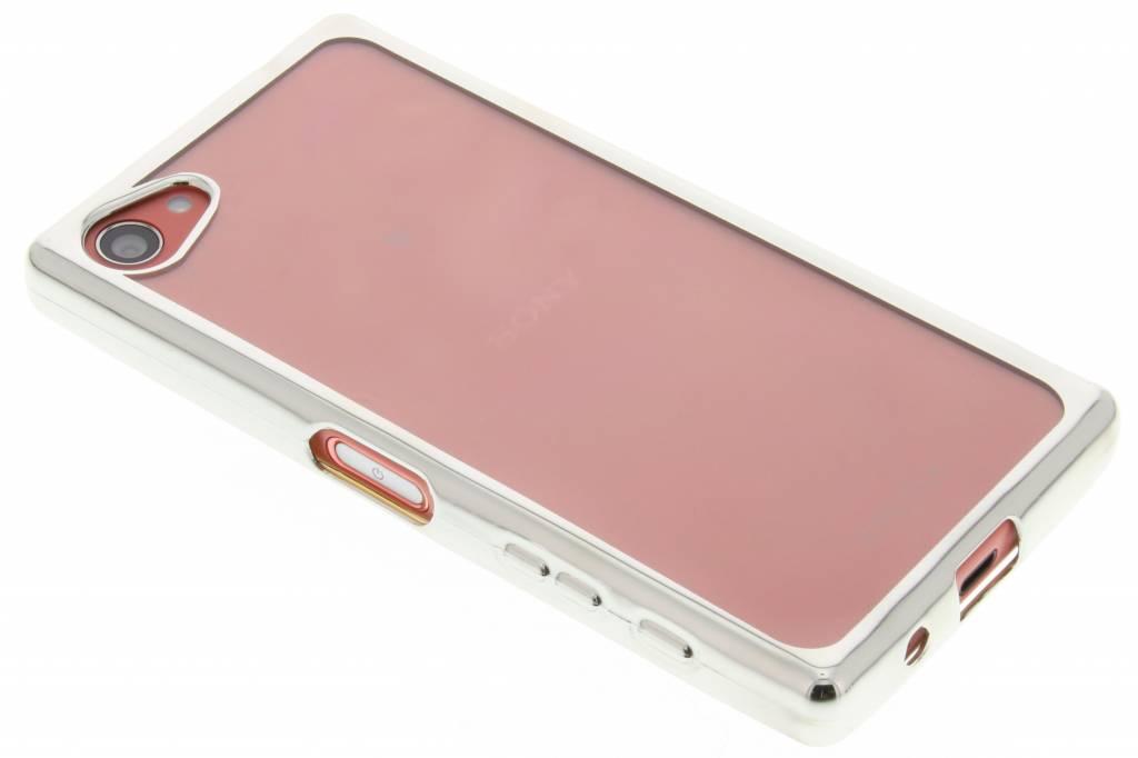 Zilver TPU hoesje met metallic rand voor de Sony Xperia Z5 Compact