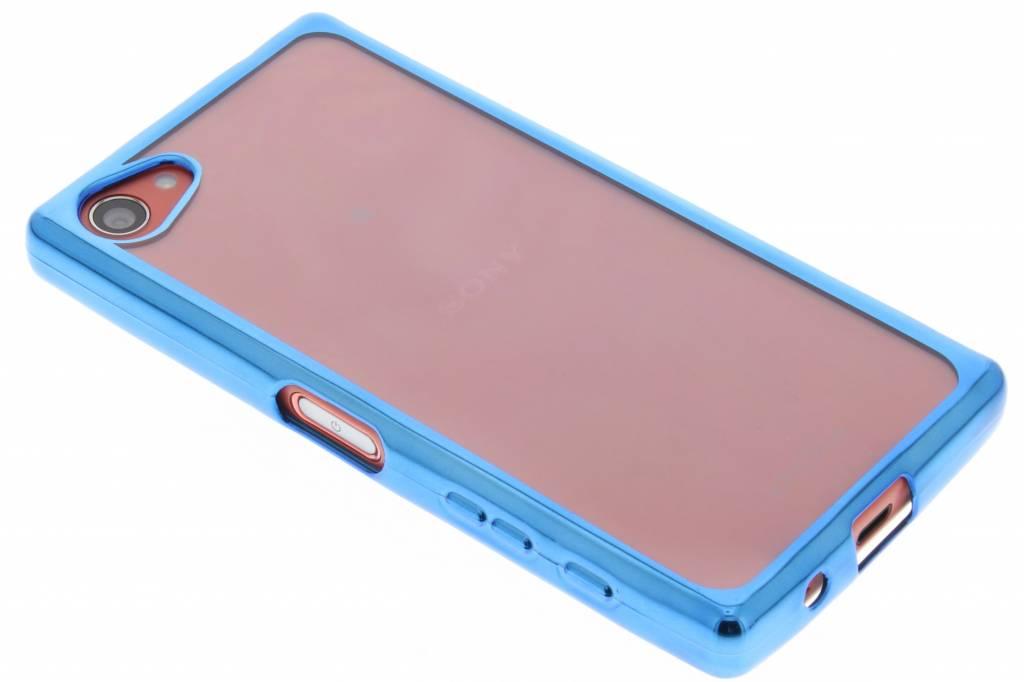Blauw TPU hoesje met metallic rand voor de Sony Xperia Z5 Compact