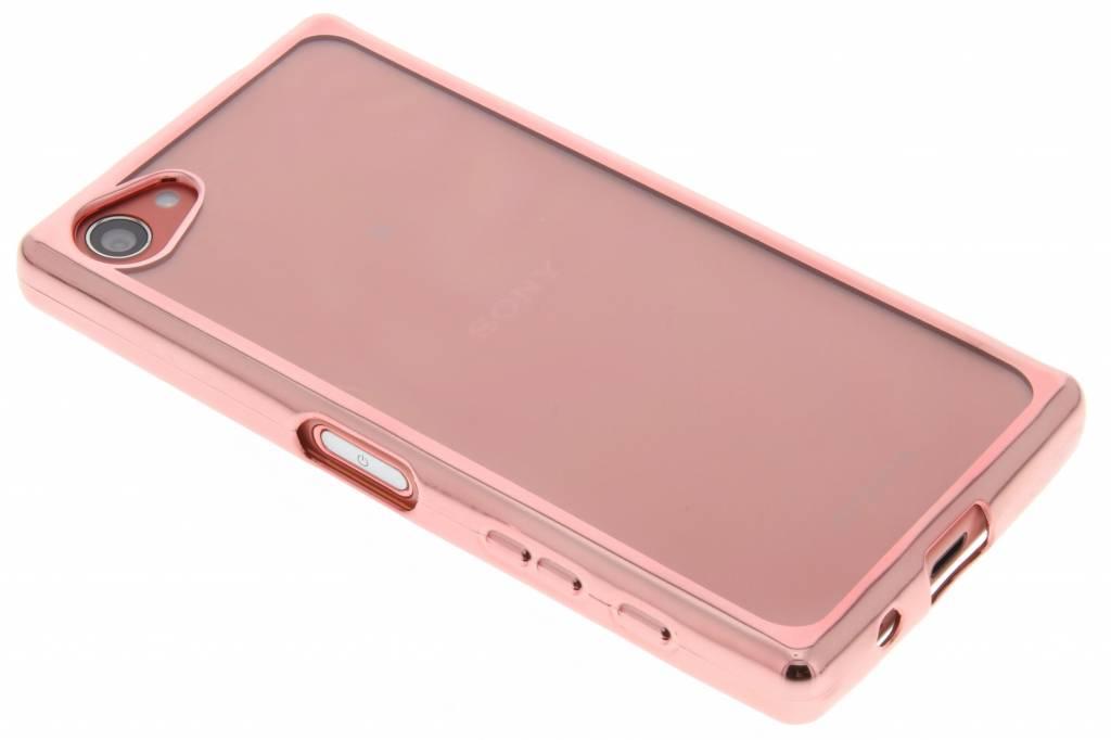 Rosé TPU hoesje met metallic rand voor de Sony Xperia Z5 Compact