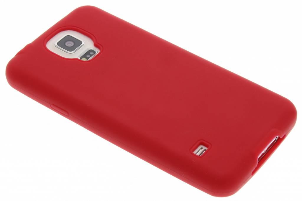 Rood effen TPU siliconen hoesje voor de Samsung Galaxy S5 (Plus) / Neo