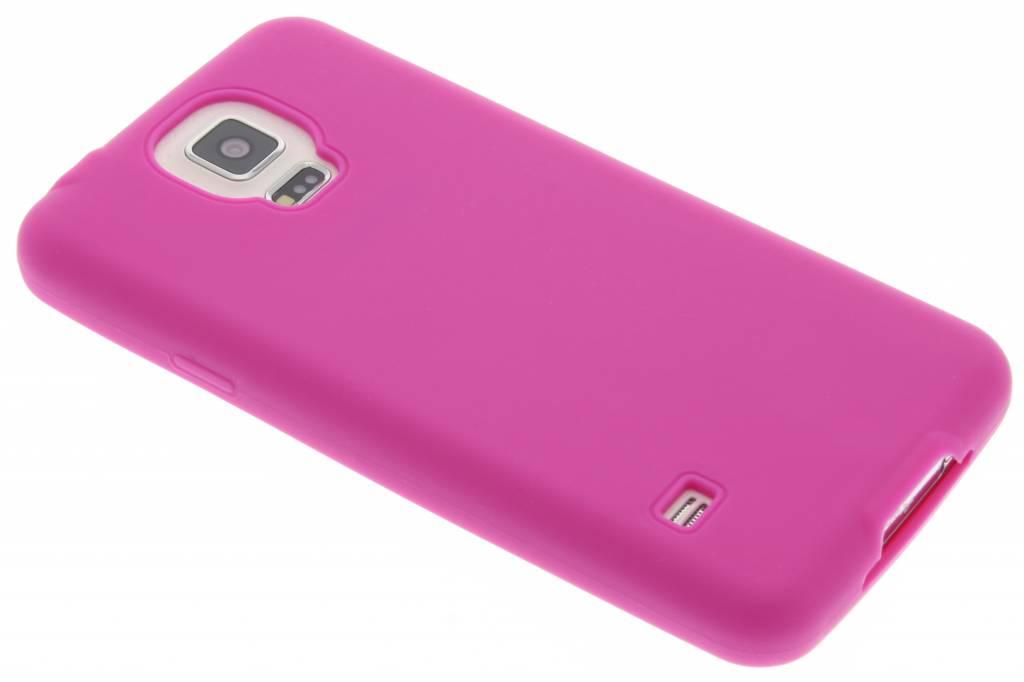 Fuchsia effen TPU siliconen hoesje voor de Samsung Galaxy S5 (Plus) / Neo