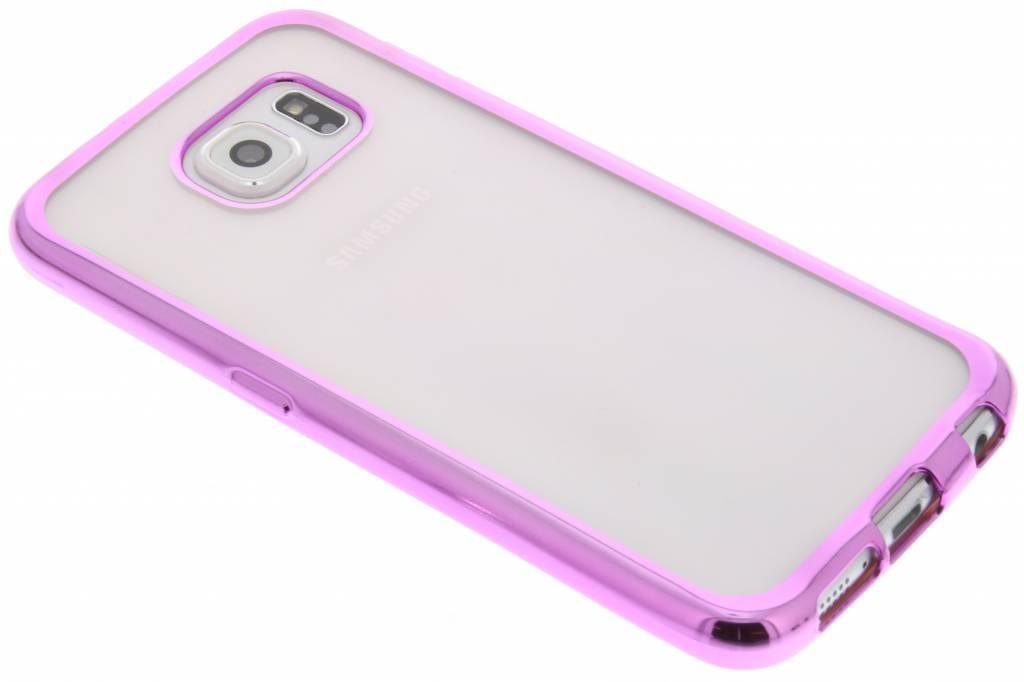 Roze TPU hoesje met metallic rand voor de Samsung Galaxy S6
