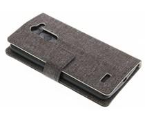 Grijs textiel booktype hoes LG L Bello / L80 Plus