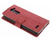 Rood textiel booktype hoes LG L Bello / L80 Plus