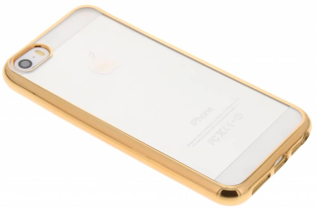 Goud TPU hoesje met metallic rand voor de iPhone 5 / 5s / SE