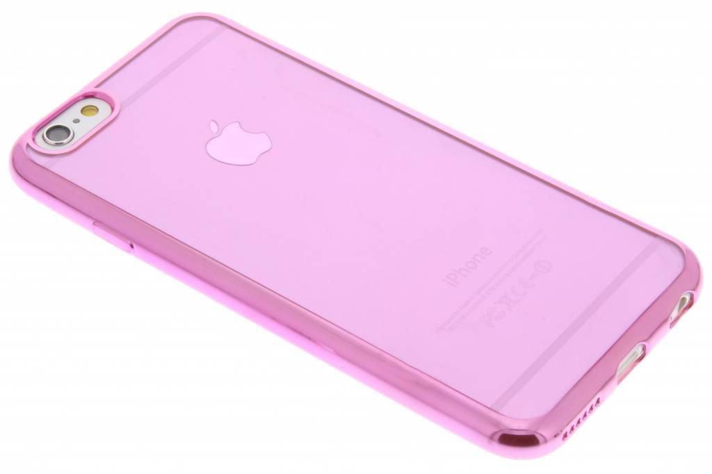 Roze TPU hoesje met metallic rand voor de iPhone 6 / 6s