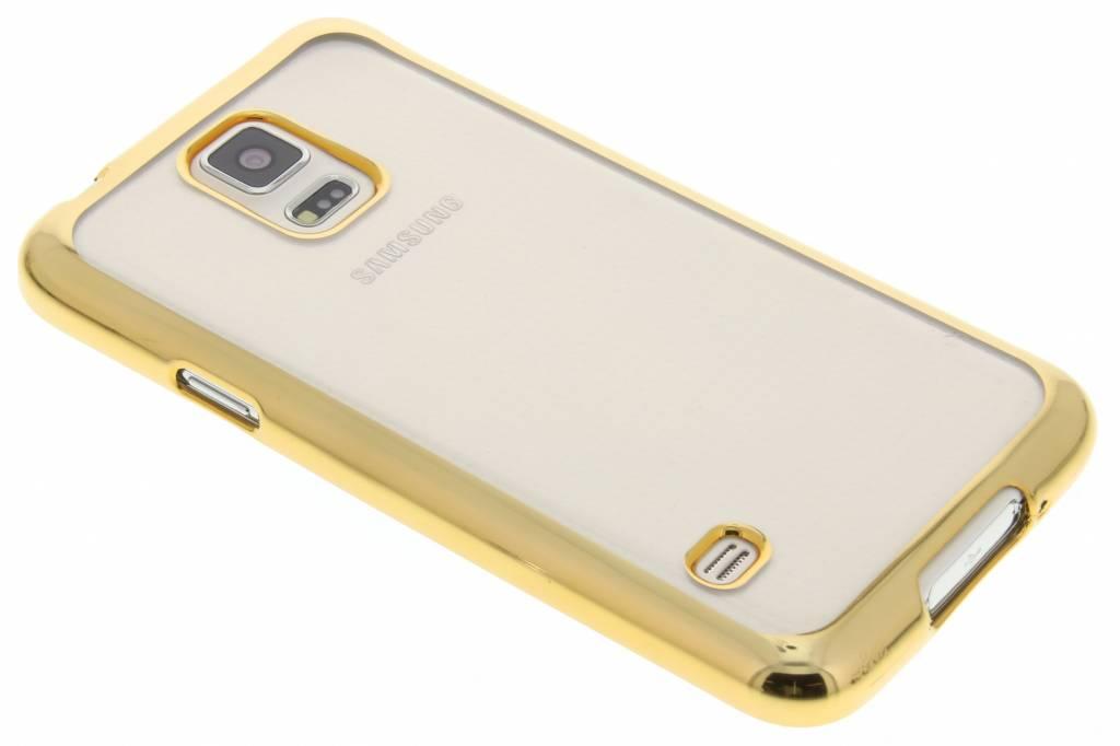 Goud TPU hoesje met metallic rand voor de Samsung Galaxy S5 (Plus) Neo