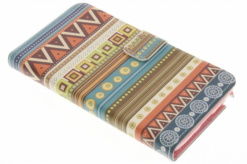 Aztec design TPU booktype hoes voor de Samsung Galaxy Note 3