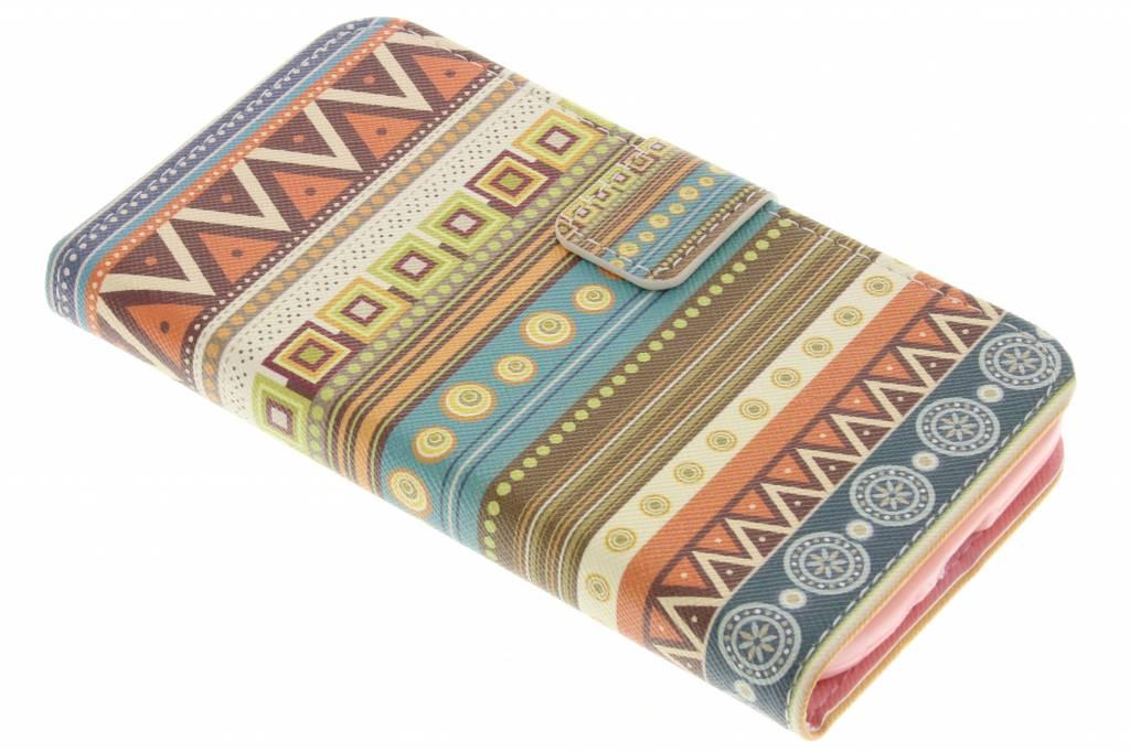 Aztec design TPU booktype hoes voor de Samsung Galaxy S4