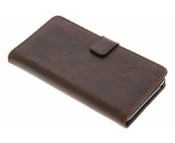 Bruin luxe leder booktype Wiko Lenny 2