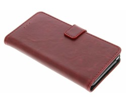 Rood Luxe leder booktype Wiko Lenny 2