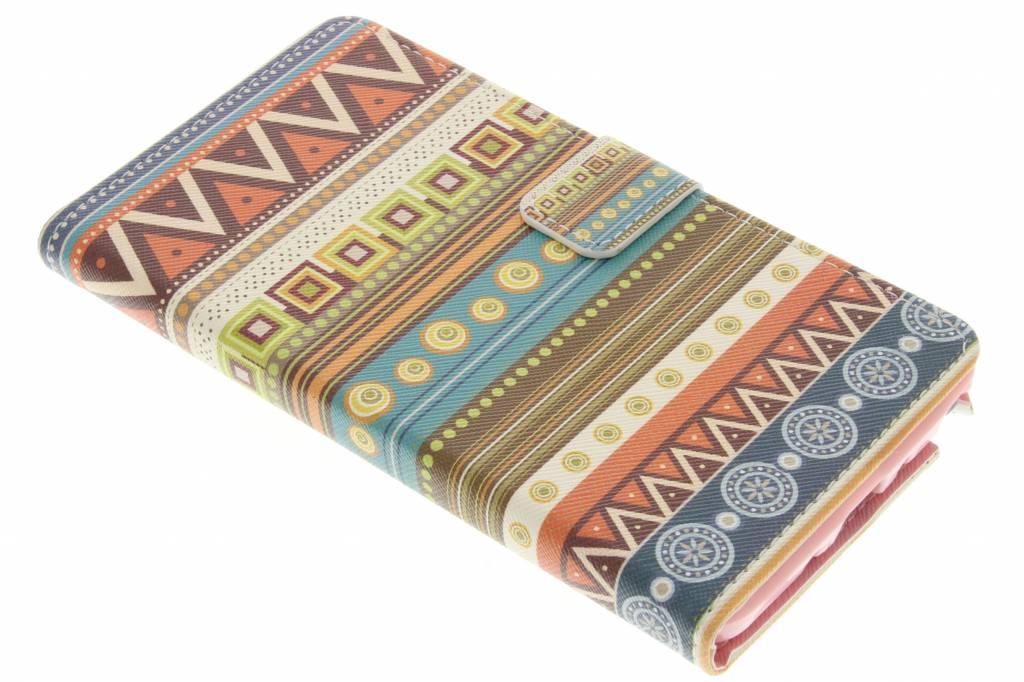 Aztec design TPU booktype hoes voor de Samsung Galaxy Note 4
