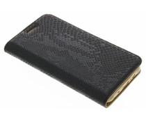 Zwart luxe slangen TPU booktype Samsung Galaxy J5