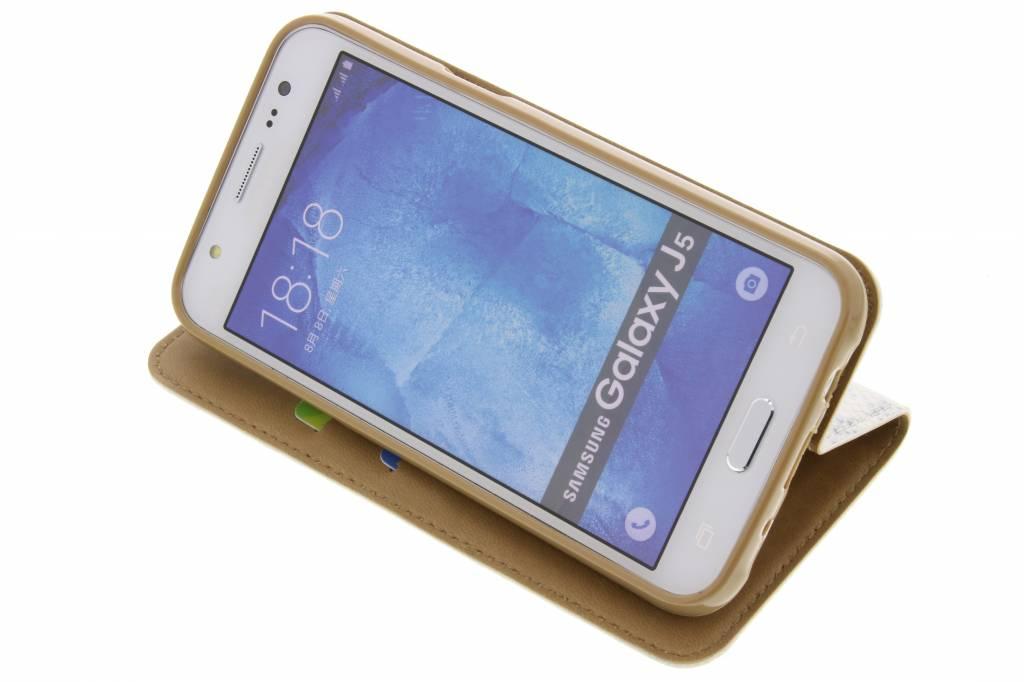 Serpents De Luxe En Argent Booktype Tpu Case Pour Samsung Galaxy J5 43z2v31IB