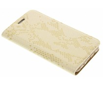 Goud luxe slangen TPU booktype Samsung Galaxy J5