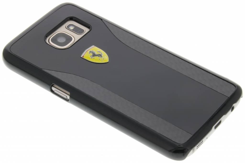 Ferrari Real Carbon Fiber Hard Case voor de Samsung Galaxy S7 - Zwart