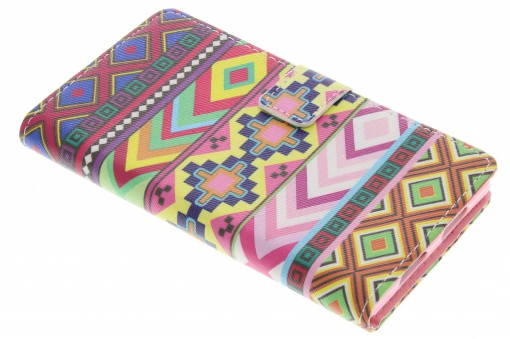 Aztec design TPU booktype hoes voor de Sony Xperia Z1