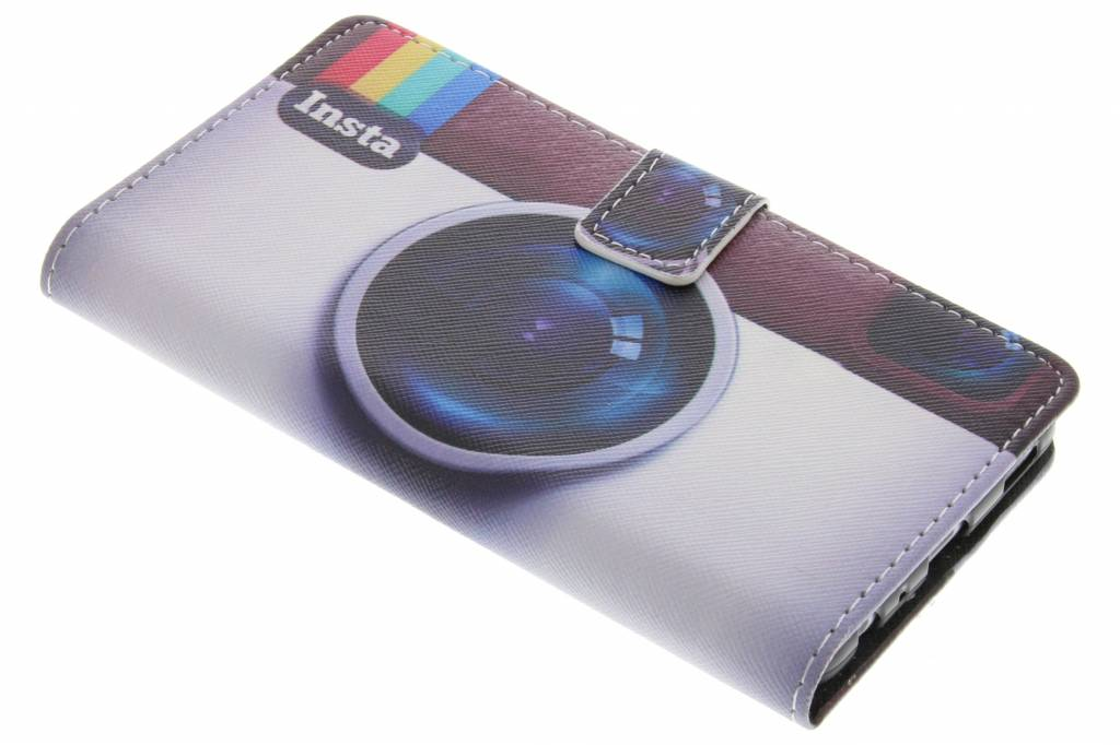 Insta camera design TPU booktype hoes voor de Huawei P9
