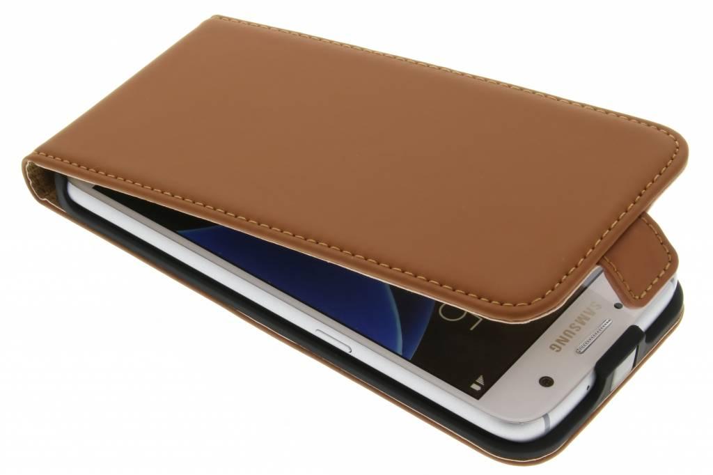 Selencia Luxe Flipcase voor de Samsung Galaxy S7 - Bruin