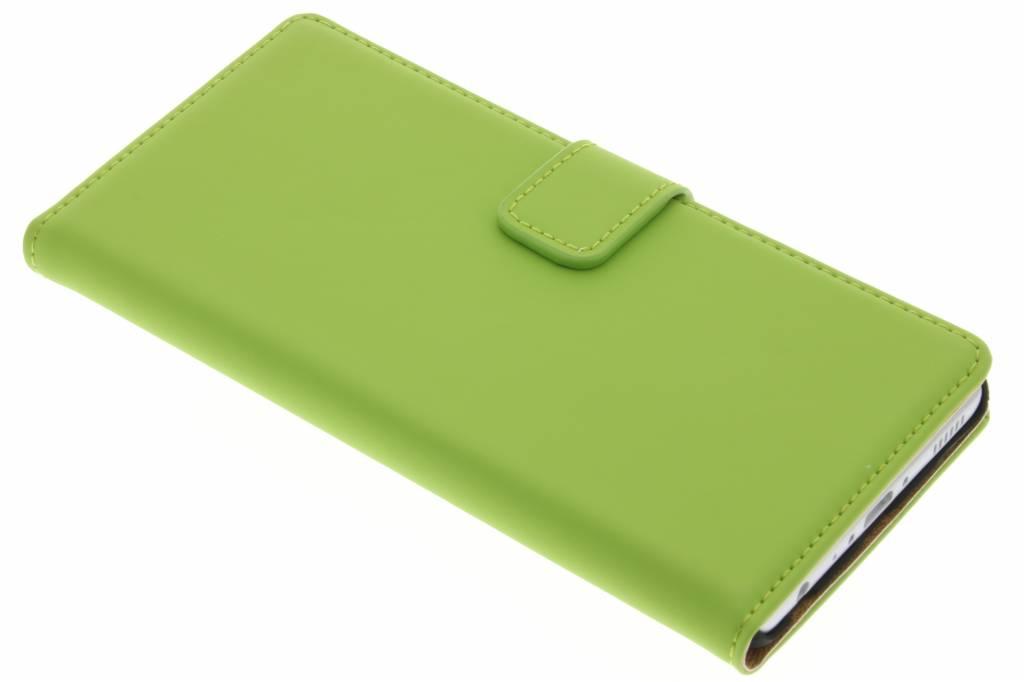 Selencia Luxe Book Case voor de Huawei P9 - Groen