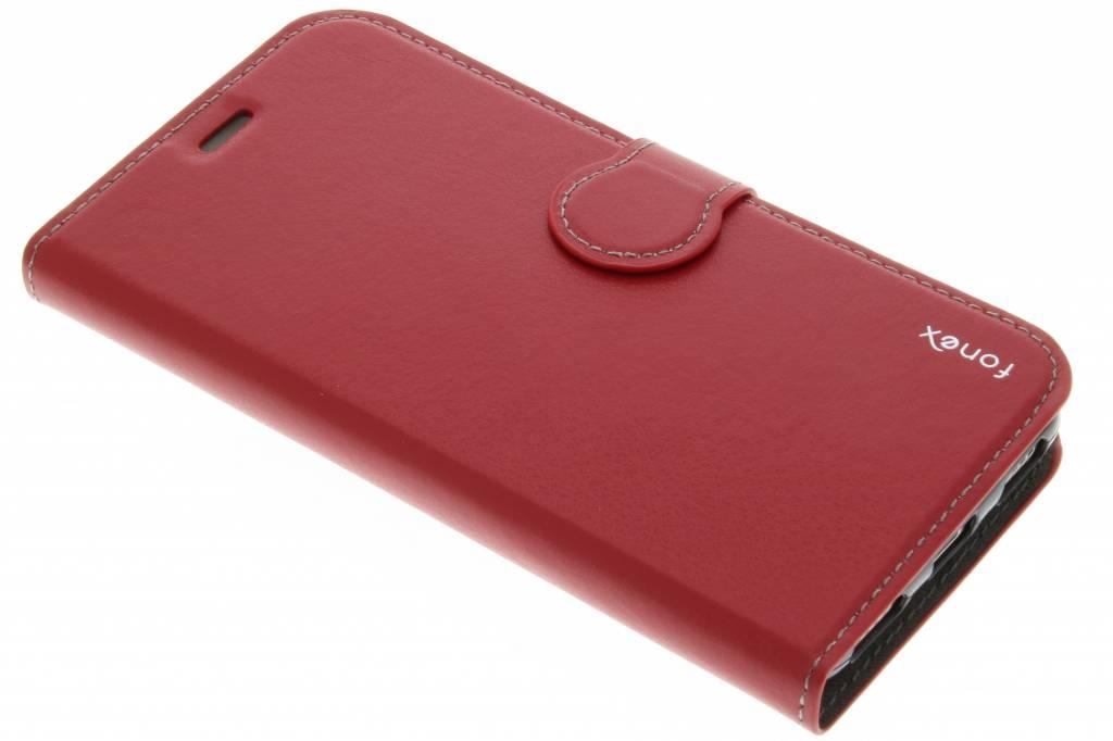 Fonex Identity Bookcase voor de Huawei Y6 - Rood