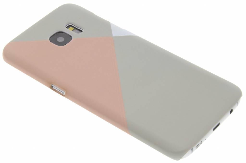 Pastelkleurige vlakken design hardcase hoesje voor de Samsung Galaxy S7 Edge