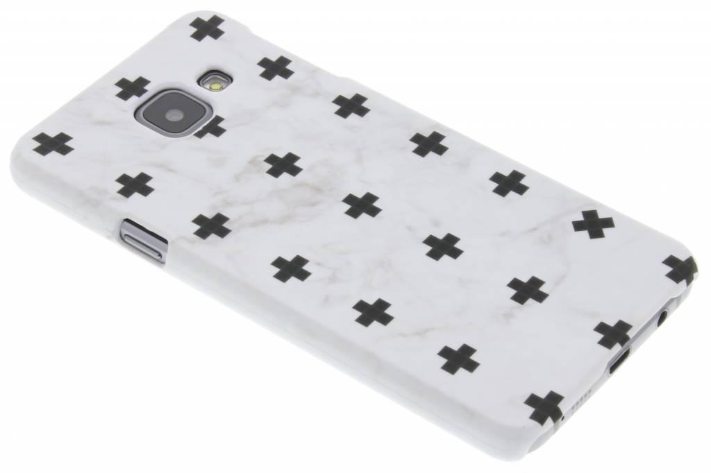 Wit marmer plus design hardcase hoesje voor de Samsung Galaxy A3 (2016)