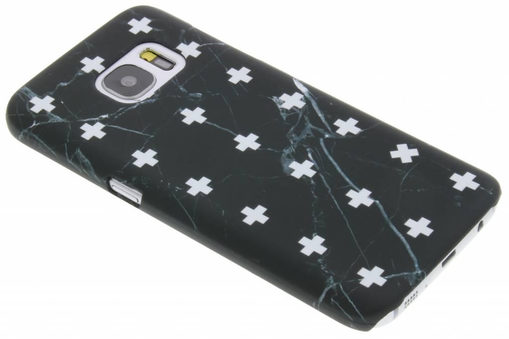 Zwart marmer plus design hardcase hoesje voor de Samsung Galaxy S7