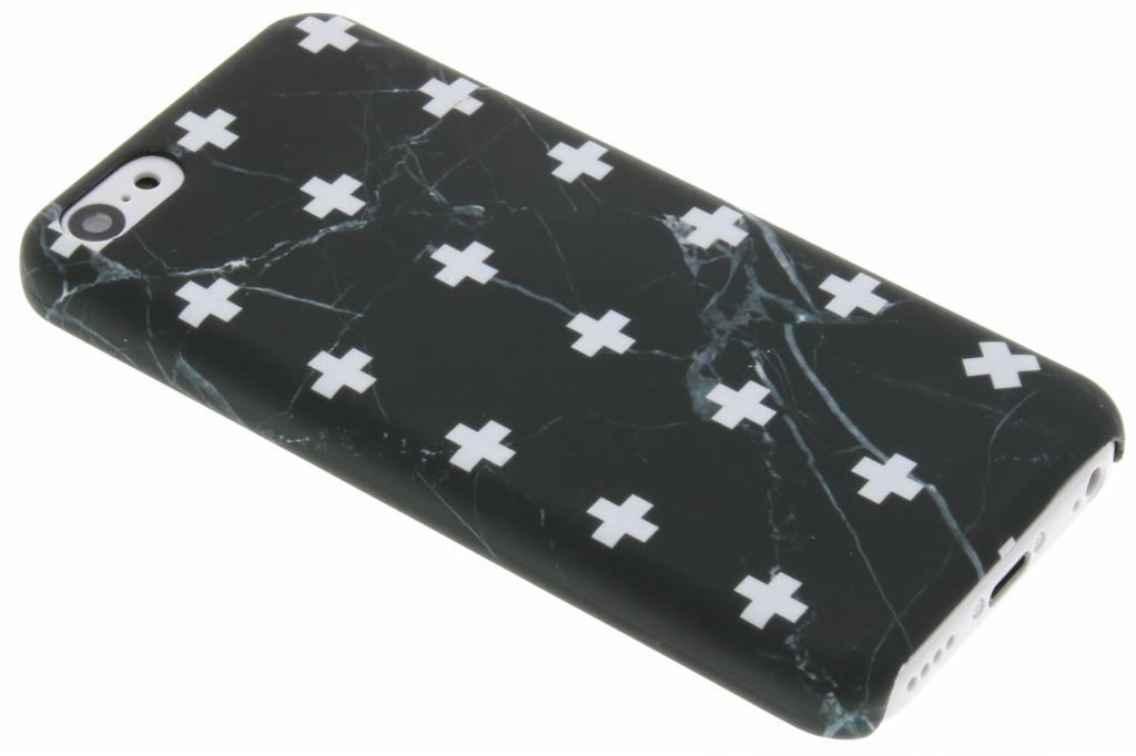 Zwart marmer plus design hardcase hoesje voor de iPhone 5c