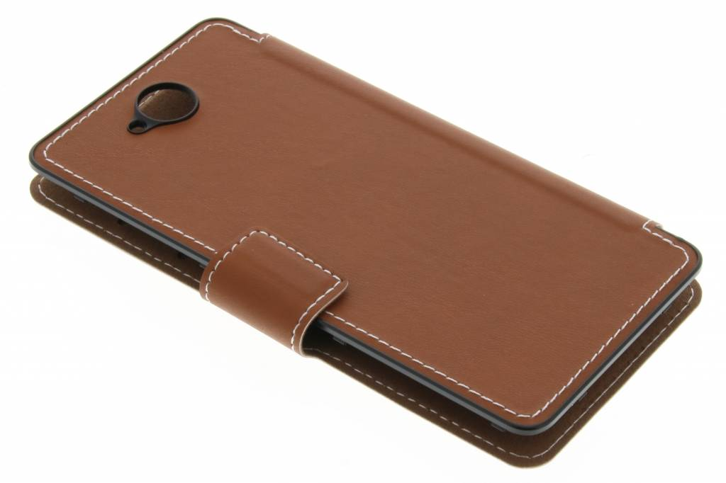 Case Design phone case shops : Mozo Flip Cover voor de Microsoft Lumia 650 - Cognac