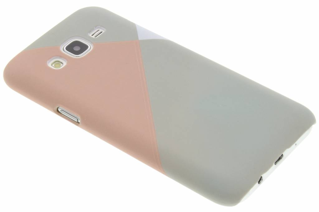 Pastelkleurige vlakken design hardcase hoesje voor de Samsung Galaxy J5