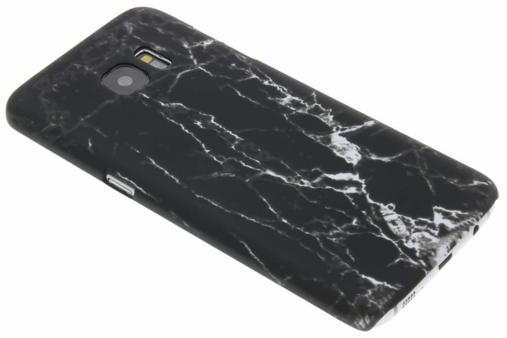 Zwart marmer look hardcase hoesje voor de Samsung Galaxy S7 Edge