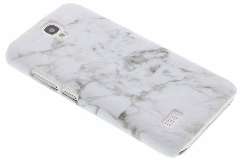 Wit glow in the dark marmer look hardcase hoesje voor de Huawei Y5