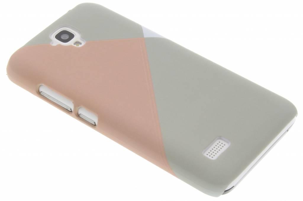 Pastelkleurig vlakken design hardcase hoesje voor de Huawei Y5