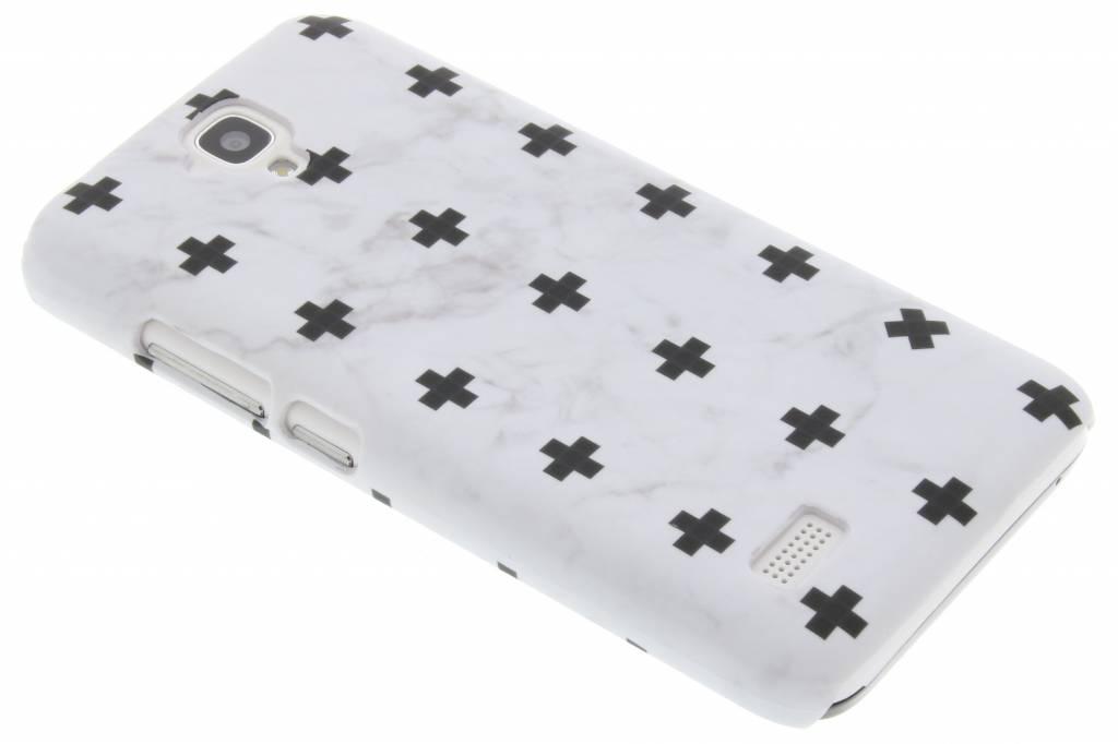 Wit marmer plus design hardcase hoesje voor de Huawei Y5