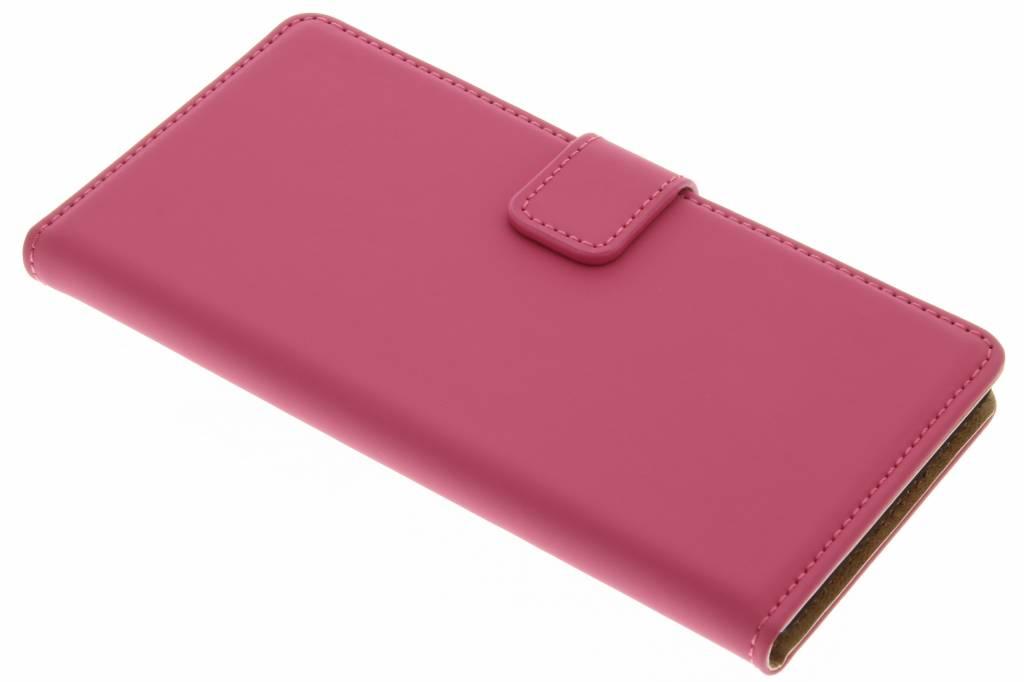 Selencia Luxe Book Case voor de Huawei P9 Lite - Fuchsia