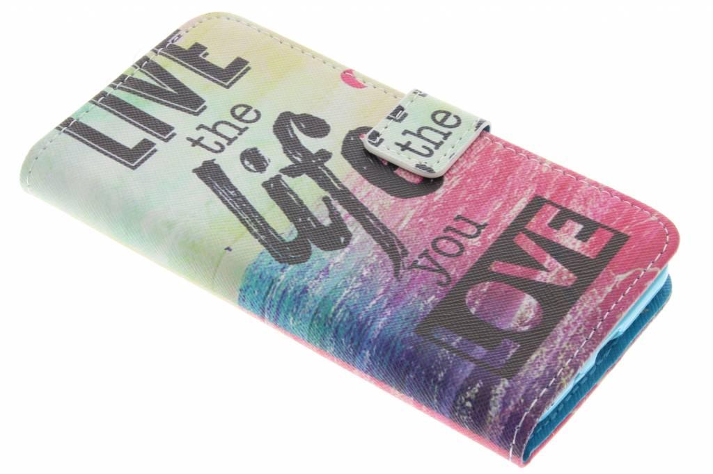 Live the life design TPU booktype hoes voor de Samsung Galaxy J3 / J3 (2016)