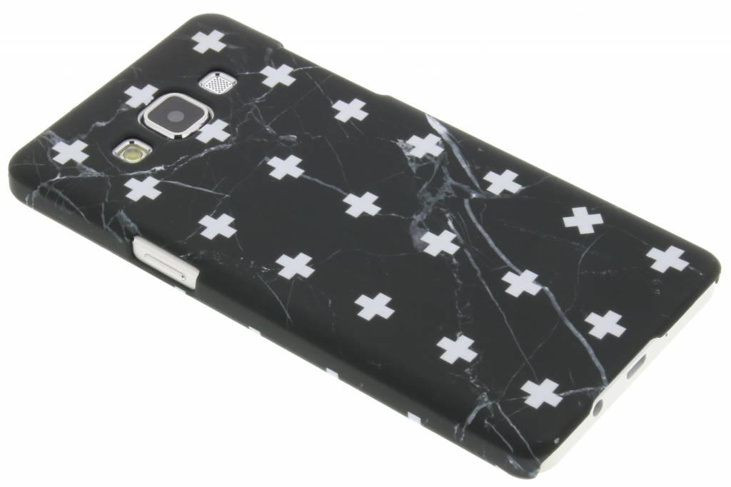 Zwart marmer plus design hardcase hoesje voor de Samsung Galaxy A5
