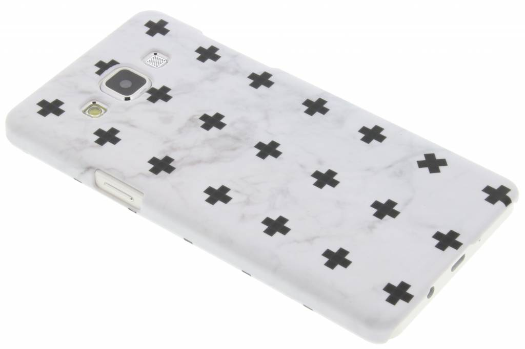 Wit marmer plus design hardcase hoesje voor de Samsung Galaxy A5